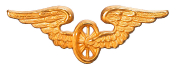 Schweiz Flügelrad gold Mützenabzeichen #16