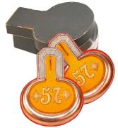 Epauletten Hauptmann 2. Oberschlesisches Feld-Artillerie-Regiment Nr. 57 #188