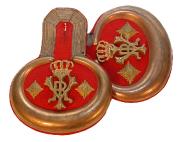 Epauletten Hauptmann Garde-Dragoner-Regiment Königin Viktoria von Großbritannien u. Irland Nr.1 #175