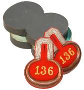 Epauletten Leutnant 4. Lothringisches Infanterie-Regiment Nr. 136 #189