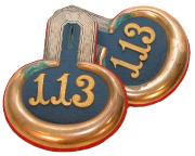 Epauletten Leutnant 5. Badisches Infanterie-Regiment Nr. 113 #166