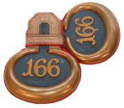 Epauletten Leutnant Infanterie-Regiment Hessen-Homburg Nr.166 #164