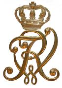 Initialen Friedrich Wilhelm Rex mit Krone #234