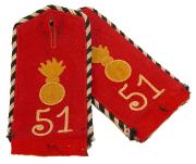 Schulterstücke 2. Ober-Elsässisches Feld-Artillerie-Regiment Nr. 51 Einjähriger Freiwilliger #195