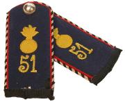 Schulterstücke 2. Ober-Elsässisches Feld-Artillerie-Regiment Nr. 51 Einjähriger Freiwilliger #211