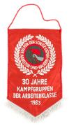 Wimpel 30 Jahre Kampfgruppen NVA DDR 1983 #1883