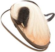 Haarbusch schwarz-weiss in Schachtel #661