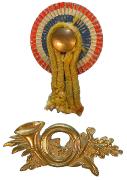 Kokarde & Horn für Tschako 1872 #309