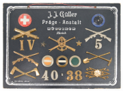 Käppiabzeichen Musterkarte Ord. 1898 #2002