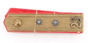 Aargau Achselklappen Artillerie Oberleutnant Ord. 1898 #1986