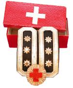 Briden Feldprediger mit Kokarde und Schachtel #496