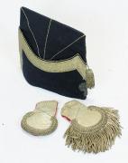 Epauletten und Quartiermütze Offizier #1672