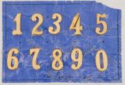 Nummern für Achselklappen der Offiziere Ord. 1898 #2008