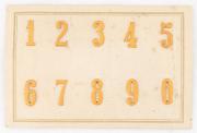 Nummern für Achselschlaufen der Offiziere 1951 Ord. 1949 #2009