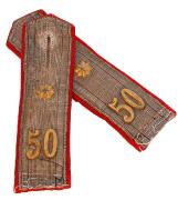Solothurn Achselklappen Infanterie Leutnant 1898 #459