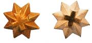 Sterne für Epauletten gold und silber #489