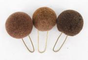 3 Pompons braun #2113