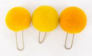 3 Pompons gelb #2112