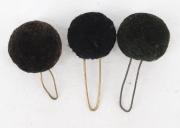 3 Pompons schwarz #2114