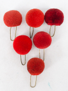 6 Pompons rot #2126