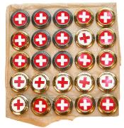 Kokarden für Feldmütze eidgenössisch und Rotkreuz #471