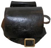 Ledertasche mit Gurtschlaufe und Umhängegurt 1841 #648