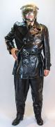 Baselland Leder-Uniform mit Motorradhelm #1670