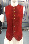 Gilet aus rotem Tuch 2. Hälfte 18. Jahrhundert #1943