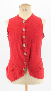 ungefüttertes Gilet aus rotem Wollköper 1760-90 #1944