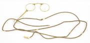 Klapp-Brille mit Schnur  #1113