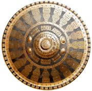 Äthiopien Rund-Schild eines Amharen-Kriegers #774