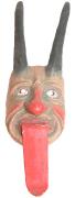 Teufelsmaske mit ausgestreckter Zunge  #1047